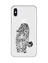 Недорогие -Кейс для Назначение Apple iPhone X / iPhone 8 Plus С узором Кейс на заднюю панель Животное Мягкий ТПУ для iPhone X / iPhone 8 Pluss / iPhone 8