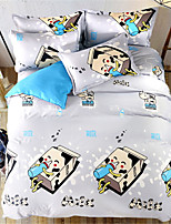 cheap -Duvet Cover Sets Cartoon Polyster Applique 3 Piece
