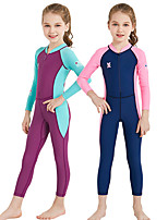 cheap -Dive&Sail Girls' Rash Guard Dive Skin Suit UV Sun Protection, Compression, UPF50+ Nylon / Spandex Full Body Swimwear Beach Wear Sun Shirt Front Zip Swimming / Diving / Watersports / Stretchy