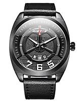 Недорогие -Муж. Нарядные часы / Наручные часы Китайский Защита от влаги / Новый дизайн / ЖК экран Натуральная кожа Группа На каждый день / Мода Черный / Коричневый