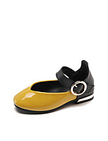 cheap -Girls' Shoes PU(Polyurethane) Spring & Summer Comfort / Flower Girl Shoes Flats for Kids White / Black / Yellow