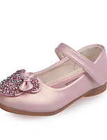 cheap -Girls' Shoes PU(Polyurethane) Spring & Summer Comfort / Flower Girl Shoes Flats Walking Shoes Bowknot / Sequin for Teenager White / Pink / Champagne