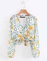 economico -Camicia Per donna Collage / Con stampe, Fantasia geometrica