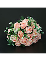baratos -Bouquets de Noiva Buquês Casamento / Festa de Casamento Poliéster 11-20 cm