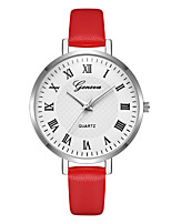cheap -Geneva Women's Wrist Watch Chinese New Design / Casual Watch / Cool Leather Band Casual / Fashion Red / Purple / Beige / One Year