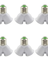 cheap -6pcs E27 to E27 E26 / E27 Converter Light Socket Plastic