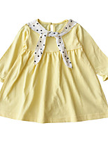 cheap -Toddler Girls' Solid Colored / Polka Dot Long Sleeve Dress