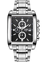 cheap -BOSCK Men's Wrist Watch Chinese Calendar / date / day / Water Resistant / Water Proof / New Design Stainless Steel Band Luxury / Fashion Silver