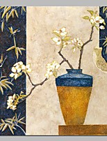 cheap -Oil Painting Hand Painted - Still Life / Floral / Botanical Classic / Traditional Canvas