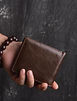 cheap -Unisex Bags Nappa Leather Wallet Zipper Coffee
