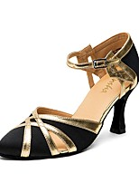 cheap -Women's Latin Shoes / Ballroom Shoes PU(Polyurethane) Sneaker Thick Heel Dance Shoes Purple / Brown / Blue