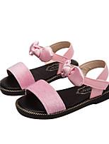 Недорогие -Девочки Обувь Замша Весна лето Удобная обувь Сандалии Для прогулок для Для подростков Черный / Цвет радуги / Розовый