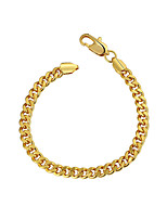 cheap -Men's Thick Chain / Single Strand Chain Bracelet - Gold Plated Simple, Basic Bracelet Gold For Daily / Street