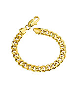 cheap -Men's Thick Chain / Single Strand Chain Bracelet - Gold Plated Simple, Basic Bracelet Gold / Rose Gold For Daily / Street