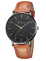 cheap -Geneva Women's Wrist Watch Quartz New Design Casual Watch Cool Leather Band Analog Casual Fashion Black / Brown - Brown Gold / Brown Black / Rose Gold One Year Battery Life