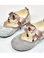 cheap -Girls' Shoes PU(Polyurethane) Spring / Fall Comfort / Flower Girl Shoes Flats for Black / Beige