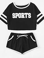 cheap -Women's Set - Striped / Letter Pant