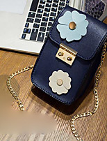 cheap -Women's Bags PU(Polyurethane) Shoulder Bag Zipper Blue / Black / Blushing Pink
