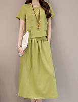 cheap -Women's Basic / Sophisticated Set - Solid Colored, Patchwork Skirt
