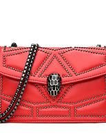 cheap -Women's Bags Sheepskin Shoulder Bag Solid Black / Red / Blushing Pink