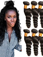 cheap -3 Bundles Brazilian Hair Loose Wave Human Hair Gifts / Headpiece / Natural Color Hair Weaves / Hair Bulk 8-28 inch Black Natural Color Human Hair Weaves Machine Made Woven / Best Quality / Hot Sale