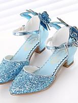Недорогие -Девочки Обувь Синтетика Весна & осень Детская праздничная обувь / Крошечные Каблуки для подростков Обувь на каблуках для Серебряный / Синий / Розовый
