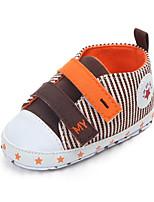 Недорогие -Девочки Обувь Полотно Весна & осень Обувь для малышей Кеды На липучках для Дети Коричневый / Красный / Синий