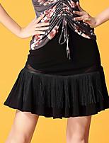 preiswerte -Für den Ballsaal Unten Damen Leistung Eis-Seide Muster / Druck / Horizontal gerüscht Normal Röcke