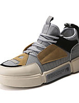Недорогие -Муж. Полиуретан / Эластичная ткань Лето Удобная обувь Кеды Беговая обувь / Для прогулок Контрастных цветов Черный / Серый / Синий