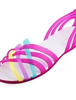 Недорогие -Жен. Обувь ПВХ Лето Удобная обувь Тапочки и Шлепанцы На плоской подошве Зеленый / Синий / Миндальный