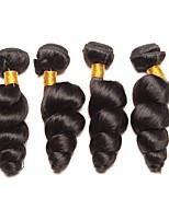 Недорогие -4 Связки Перуанские волосы Свободные волны Натуральные волосы Подарки / Косплей Костюмы / Человека ткет Волосы 8-28 дюймовый Естественный цвет Ткет человеческих волос