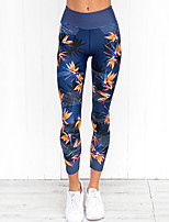 cheap -Women's Daily Sporty Legging - Floral High Waist