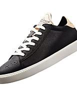 Недорогие -Муж. Полиуретан Осень Удобная обувь Кеды Черный / Красный