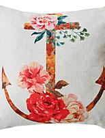 Недорогие -1 штук Хлопок / Лён / Полиэстер Наволочки, Цветочный принт Цветы
