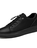 cheap -Men's Comfort Shoes Nappa Leather Spring Sneakers Black