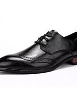 Недорогие -Муж. Полиуретан Весна Удобная обувь Туфли на шнуровке Черный / Коричневый