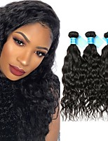cheap -Brazilian Hair / Peruvian Hair Water Wave Virgin Human Hair Natural Color Hair Weaves 3 Bundles 8-30 inch Human Hair Weaves Machine Made Best Quality / 100% Virgin Natural Black Human Hair Extensions
