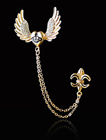 cheap -Men's Cubic Zirconia Stylish Brooches - Trendy, Fashion, Elegant Brooch Gold / Silver For Daily / Holiday