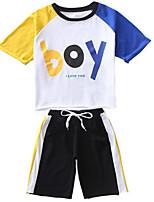 cheap -Toddler Boys' Color Block Half Sleeve Clothing Set