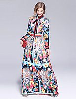 cheap -SHIHUATANG Women's Boho / Street chic Swing Dress - Floral Print