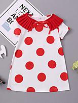 economico -Bambino / Bambino (1-4 anni) Da ragazza Fantasia geometrica Manica corta Vestito