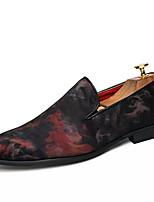 abordables -Homme Chaussures Daim / Polyuréthane Eté Confort Mocassins et Chaussons+D6148 Rouge / Bleu
