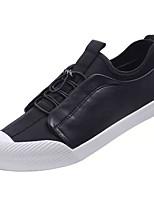 Недорогие -Муж. Полиуретан Осень Удобная обувь Кеды Черный