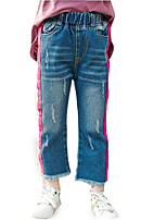 cheap -Kids Girls' Striped Jeans