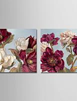 Недорогие -С картинкой Отпечатки на холсте - Природа / Цветочные мотивы / ботанический Modern
