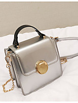 cheap -Women's Bags PU(Polyurethane) Shoulder Bag Zipper Black / Silver / Wine