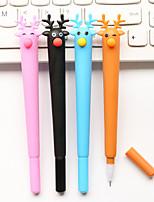 cheap -Gel Pen Pen Pen, Plastics Black Ink Colors For School Supplies Office Supplies Pack of 12 pcs