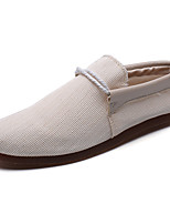cheap -Men's Canvas / Elastic Fabric Fall Comfort Loafers & Slip-Ons Black / Beige / Gray