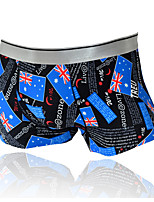 cheap -Men's Boxers Underwear Geometric High Waist