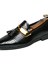 cheap -Men's Shoes Faux Leather Fall & Winter Formal Shoes Loafers & Slip-Ons White / Black / Wedding / Party & Evening